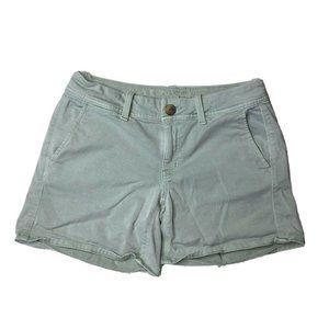 American Eagle Shorts Mint Teal Chino Midi Size 4